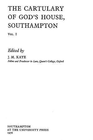 Cartulary of God's House, Southampton