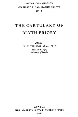 Cartulary of Blyth Priory