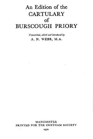 Cartulary of Burscough Priory