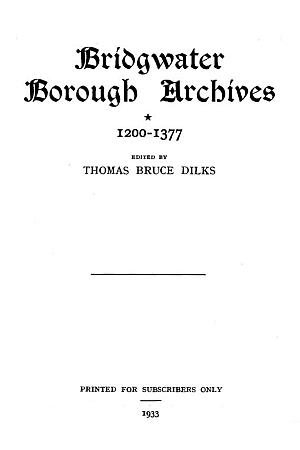 Bridgwater Borough Archives