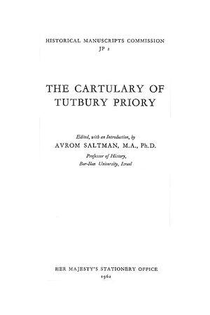The Cartulary of Tutbury Priory
