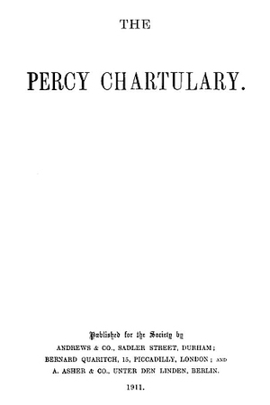 The Percy Chartulary