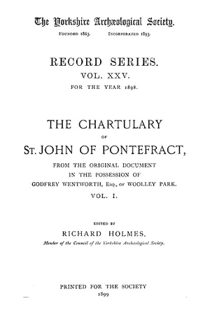 Chartulary of St. John of Pontefract