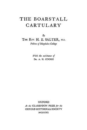 The Boarstall Cartulary