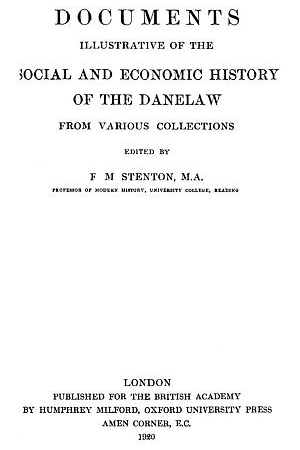 Documents Illustrative of the Social and Economic History of the Danelaw