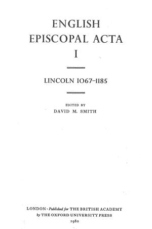Lincoln 1067-1185 Volume 1