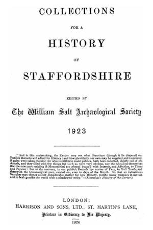 Shenstone Charters Addenda