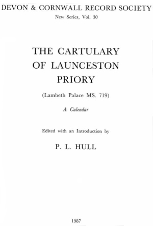 Cartulary of Launceston Priory