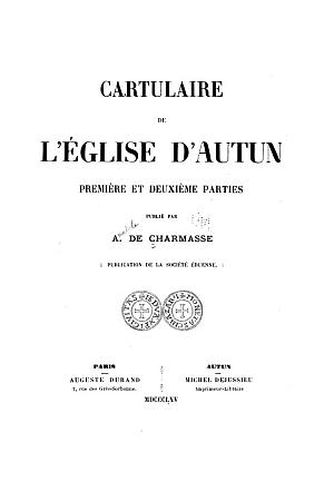 Cartulaire de l'Eglise d'Autun