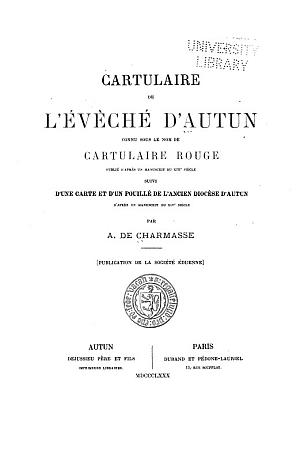 Cartulaire de l'Evêché d'Autun