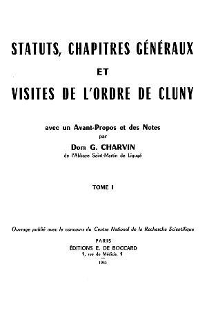Bullarium Sacri Ordinis Cluniacensis [Cluny]