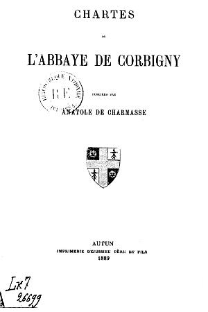 Chartes de l'Abbaye de Corbigny