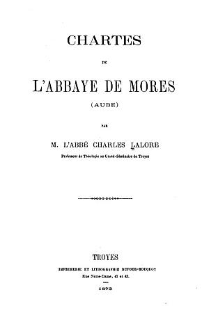Chartes de l'Abbaye de Mores