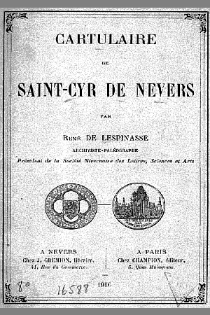 Cartulaire de Saint-Cyr de Nevers