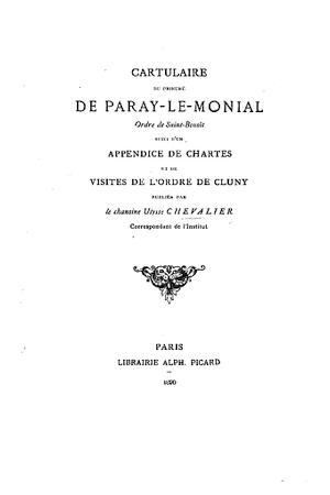 Chartularium prioratys beatae mariae de Paredo monachorum [Paray-le-Monial]