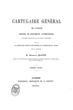 Cartulaire général de l'Yonne