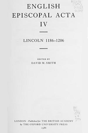 Lincoln 1186-1206 Volume 4