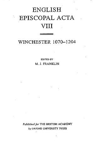 Winchester 1070-1204 Volume 8
