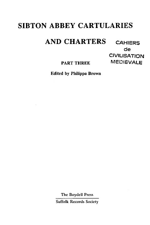 Sibton Abbey Cartularies and Charters