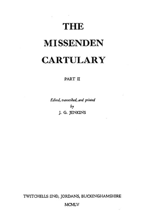 Cartulary of Missenden Abbey