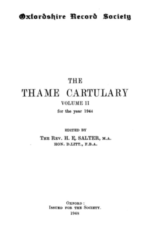 The Thame Cartulary