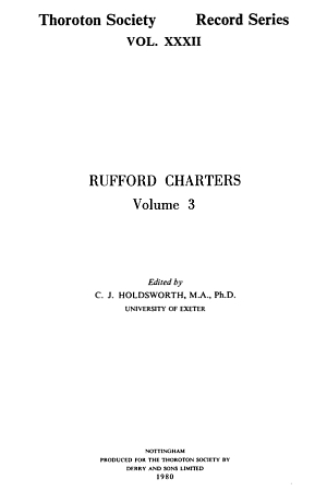 Rufford Charters