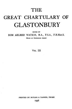 Great Chartulary of Glastonbury