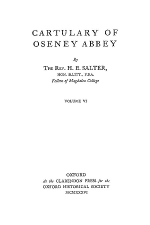 Cartulary of Oseney Abbey
