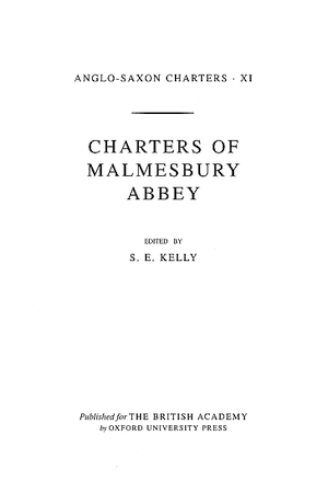 Charters of Malmesbury Abbey
