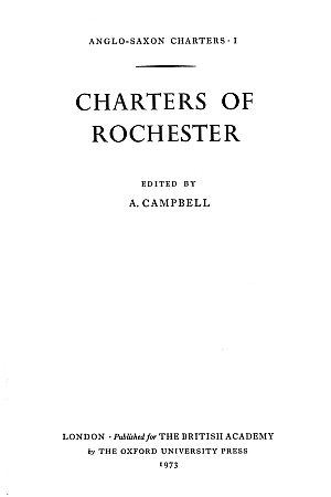 Charters of Rochester