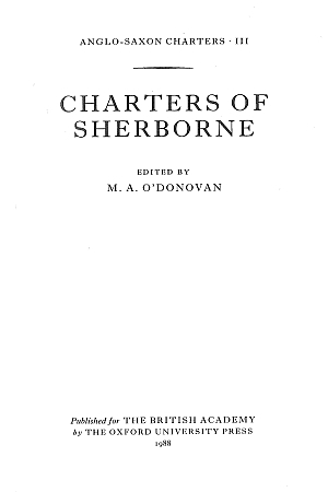 Charters of Sherborne