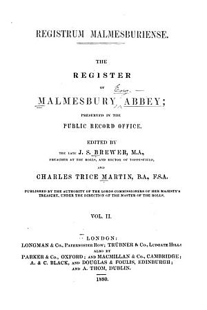 Registrum Malmesburiense [Malmesbury]