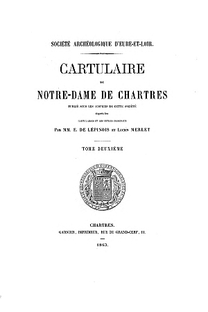 Cartulaire de Notre-Dame de Chartres