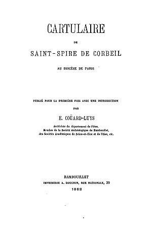 Cartulaire de Saint-Spire de Corbeil