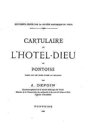 Cartulaire de l'Hôtel-Dieu de Pontoise