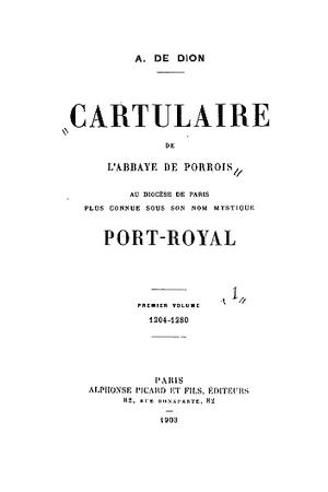 Cartulaire de l'abbaye de Porrois