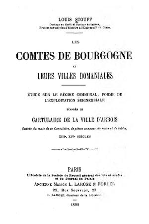 Le cartulaire de la ville d'Arbois