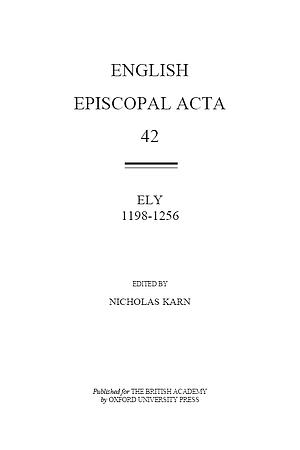 Ely 1198-1256 Volume 42
