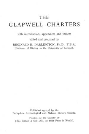 Glapwell Charters