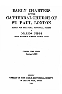 Cartulary 0001 - Early Charters of the Cathedral Church of St. Paul, London
