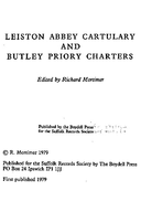 Cartulary 0008 - The Cartulary of Leiston Abbey and Butley Priory Charters