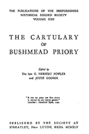 Cartulary 0019 - Cartulary of Bushmead Priory