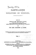 Cartulary 0040 - Cartularium monasterii de Rameseia [Ramsey](Volume 1)
