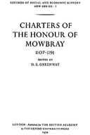 Cartulary 0041 - Charters of the Honour of Mowbray, 1107-1191