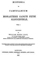 Cartulary 0050 - Historia et Cartularium Monasterii Sancti Petri Gloucestriae [Gloucester](V.1)