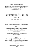 Cartulary 0084 - The Coucher Book of Selby(Volume 1)