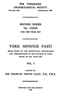 Cartulary 0096 - York Minster Fasti(Volume 1)