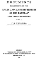 Cartulary 0125 - Documents Illustrative of the Social and Economic History of the Danelaw