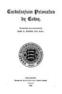 Cartulary 0142 - Cartularium Prioratus de Colne [Colchester]