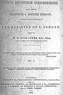 Cartulary 0145 - Vetus Registrum Sarisberiense alias dictum Registrum St. Osmundi Episcopi [Salisbury](Volume 1)